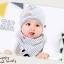 เซตหมวก+ผ้าซับน้ำลาย / ลาย Lovely Baby (มี 6 สี) thumbnail 15