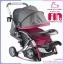 รถเข็นเด็ก fin babies plus สีชมพู ปรับโยกได้ พร้อมมุ้งกันยุง thumbnail 1