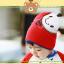 HT442••หมวกเด็ก•• / หมวกบีนนี่-ผีเสื้อ (สีแดง) thumbnail 3