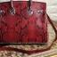 กระเป๋าถือสะพายหนังแท้ สองขนาด ลายงานหนังวัวแท้ สีทูโทน (Leather100%) thumbnail 16
