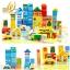 ชุดบล็อคไม้ของเล่น ทรงเรขา สร้างเมือง 62 ชิ้น thumbnail 3