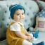 HT282••หมวกเด็ก•• / ไหมพรมสีพื้น [สีฟ้า] thumbnail 2