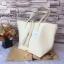 กระเป๋า MNG Shopper bag สีขาวครีม กระเป๋าหนัง เชือกหนังผูกห้วยด้วยพู่เก๋ๆ!! จัดทรงได้ 2 แบบ thumbnail 4
