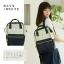 กระเป๋าเป้ Anello Polyester Canvas Rucksack Classic สีขาว-กรม วัสดุผ้าแคนวาสอย่างดี รุ่นคลาสสิกพิเศษมีซิปด้านหลัง thumbnail 5
