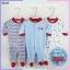 ชุดหมีหุ้มเท้า sleep suit แพ็ค 3 ชุด thumbnail 1