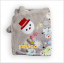 BK049••ผ้าห่มเด็ก•• / ตุ๊กตาหิมะ-เทา (ลายปัก) thumbnail 2