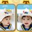 HT483••หมวกเด็ก•• / หมวกปีกกว้าง-DH (สีเบจ) thumbnail 2