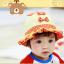 HT478••หมวกเด็ก•• / หมวกปีกกว้าง-โบว์คู่ (สีส้ม) thumbnail 3
