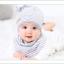 เซตหมวก+ผ้าซับน้ำลาย / ลาย Lovely Baby (มี 6 สี) thumbnail 16