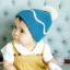 HT282••หมวกเด็ก•• / ไหมพรมสีพื้น [สีฟ้า] thumbnail 4