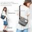 กระเป๋า ANELLO POLYESTER CANVAS SHOULDER BAG สีเทา thumbnail 5