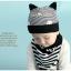 เซตหมวก+ผ้าซับน้ำลาย / ลาย Cat Baby (มี 5 สี) thumbnail 7