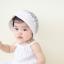 หมวกบอนเน็ตผ้าลูกไม้ หมวกเด็กผู้หญิงปิดท้ายทอย สีครีม (แบบที่ 2) thumbnail 6