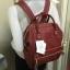 กระเป๋าเป้ Anello polyurethane leather rucksack Red Wine Mini thumbnail 8