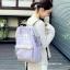 กระเป๋าเป้ ANELLO X PAGEBOY- LOCAL BRAND วัสดุ Polyester canvas สลับหนังกลับ ปากกระเป๋าเปิดปิดด้วยซิปคู่ thumbnail 5