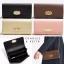 กระเป๋า CHARLE & KEITH TURN LOCK WALLET 2016 ใช้ถือหรือสะพายทรงคลัช ล่าสุดชนช็อป! วัสดุหนัง Saffiano สวยหรูสไตล์ PRADA thumbnail 1
