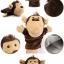 ตุ๊กตาหุ่นมือลิง หัวใหญ่ ขนนุ่มนิ่ม สวมขยับปากได้ thumbnail 2