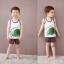 ชุดเสื้อกล้าม+กางเกงขาสั้นเด็ก ลายช้างกับนกน้อย size 120 130 thumbnail 1