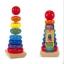 ของเล่นไม้ เรียงห่วงสวมหลัก Rainbow Stacker ขนาดสูง 21 ซม. thumbnail 1