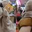 ตุ๊กตาหุ่นมือฮิปโป หัวใหญ่ ขนนุ่มนิ่ม สวมขยับปากได้ thumbnail 3