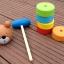 ตุ๊กตาค้อนตอกหมีไม้ ของเล่นทาวเวอร์สีรุ้ง thumbnail 5