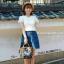 กระเป๋าเป้ Sun earth & U POLYESTER NYLON MINI RUCKSACK 3 ways ด้วยลวดลายสไตล์วินเทจ วัสดุผ้าไนล่อนหนาสลับหนังpu กันน้ำได้ สามารถทำได้3สไตล์ thumbnail 2