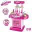 ของเล่นชุดเคาน์เตอร์ครัวมินิ พร้อมอุปกรณ์ทำอาหารสำหรับคุณหนูครบเซต สีชมพูสวยหวาน thumbnail 3