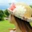 หมวกปีกสาน สไตล์เกาหลี ประดับดอกไม้ผ้าสวยหวานน่ารัก thumbnail 4