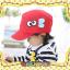 หมวกแก๊ป หมวกเด็กแบบมีปีกด้านหน้า ลายแลบลิ้น (มี 5 สี) thumbnail 3