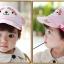 หมวกแก๊ป หมวกเด็กแบบมีปีกด้านหน้า ลายลิงน้อย (มี 3 สี) thumbnail 6