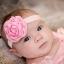 ผ้าคาดผมเด็กเล็ก โบว์ดอกกุหลาบซาติน thumbnail 5