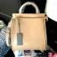กระเป๋า CHARLES & KEITH TOP HANDLE BAG สีเบจ กระเป๋าถือหรือสะพายรุ่นใหม่ล่าสุดแบบชนช็อป thumbnail 1