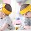 HT126••หมวกเด็ก•• / หมวกไวเซอร์ (เปิดศีรษะ) ม้าลาย [สีเหลือง] thumbnail 3