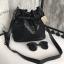 กระเป่า David Jones Bucket Leather Size L (bag) กระเป๋าสะพายข้างดีไซน์เกร๋มาก สีดำสวยมาก chic thumbnail 7