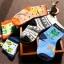 ถุงเท้าเด็กเล็ก ชาย 1-3 ปี มีกันลื่น พิมพ์ลายการ์ตูน แฟชั่นญี่ปุ่น thumbnail 8