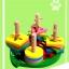 ของเล่นไม้ บล็อคไม้สวมหลัก เสริมพัฒนาการ รูปเต่าทอง thumbnail 6