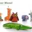 โมเดลพับกระดาษ Joan Miro' 3D Paper Model - สัตว์ป่า/สัตว์ทะเล/ชุดครัว thumbnail 4