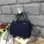 LYN Madison Bag สีน้ำเงิน กระเป๋าถือหรือสะพายทรงสวย รุ่นใหม่ล่าสุด วัสดุหนัง Saffiano thumbnail 3