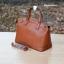 กระเป๋า MANGO SAFFIANO-EFFECT TOTE BAG สีน้ำตาล ราคา 1,090 บาท Free Ems thumbnail 4