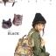 กระเป๋าเป้ Anello x Legato Largo Botanical & Cat nylon Cap fasteners Backpack Black Button รุ่นคลาสสิค thumbnail 6