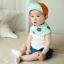 HT397••หมวกเด็ก•• / หมวกแก็ป Happy (สีส้ม) thumbnail 2