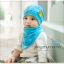 AP205••เซตหมวก+ผ้ากันเปื้อน•• / Camp [สีฟ้า] thumbnail 1