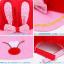 HT095••หมวกเด็ก•• / หมวกแก๊ปกระต่าย [สีแดง] thumbnail 5