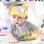 HT126••หมวกเด็ก•• / หมวกไวเซอร์ (เปิดศีรษะ) ม้าลาย [สีเหลือง] thumbnail 2