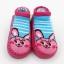 ถุงเท้ารองเท้า มีกันลื่น เนื้อผ้านุ่มนิ่ม สำหรับเด็กวัย 0-2 ปี ลายกระต่ายสีบานเย็น thumbnail 1