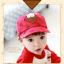 หมวกแก๊ป หมวกเด็กแบบมีปีกด้านหน้า ลายหมีสกรีนสามเหลี่ยม (มี 4 สี) thumbnail 3