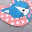 ผ้าซับน้ำลายปลายโค้ง ผ้ากันเปื้อนเด็ก แบบใช้ได้ 2 ด้าน / หน้าลายสัตว์-หลังลายขวาง (มี 3 ลาย) thumbnail 7