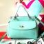 กระเป๋าถือ Mango Tote Bag with turn lock 2015 สีฟ้าน้ำทะเล สดใส thumbnail 12