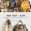กระเป๋าเป้ Anello x Legato Largo Botanical & Cat nylon Cap fasteners Backpack Black Button รุ่นคลาสสิค thumbnail 8
