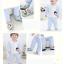 ถุงเท้ารองเท้า มีกันลื่น เนื้อผ้านุ่มนิ่ม สำหรับเด็กวัย 0-2 ปี ลายยีราฟสีเขียว thumbnail 4